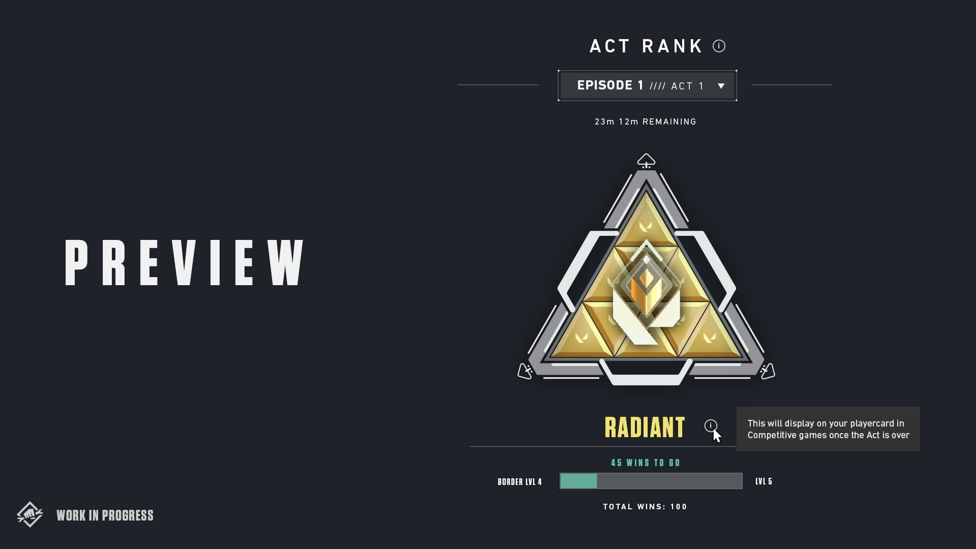 Valorant act 2 radiant badge
