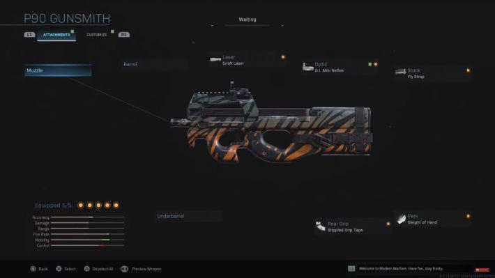 modern warfare p90 weapon