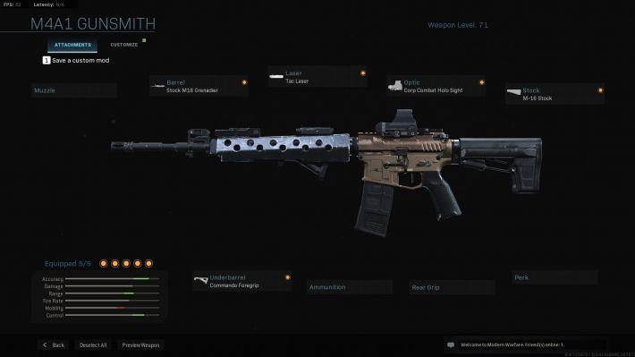 modern warfare m4a1 weapon