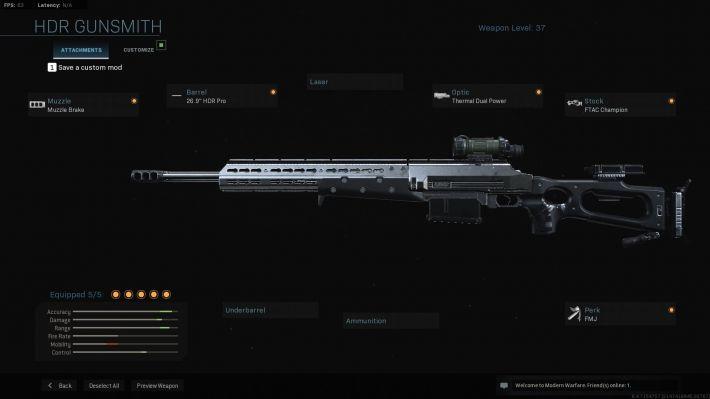 modern warfare HDR weapon